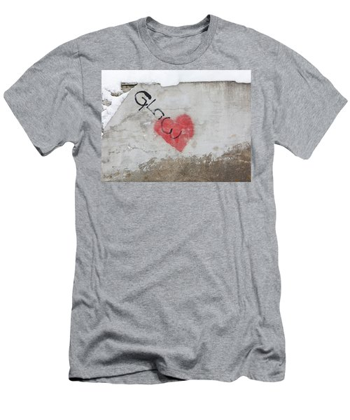 Men's T-Shirt (Slim Fit) featuring the photograph Glow Heart by Art Block Collections