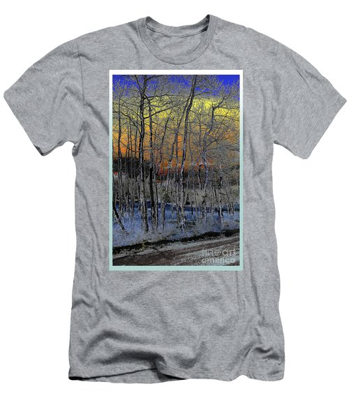 Glowing Aspens At Dusk Men's T-Shirt (Athletic Fit)