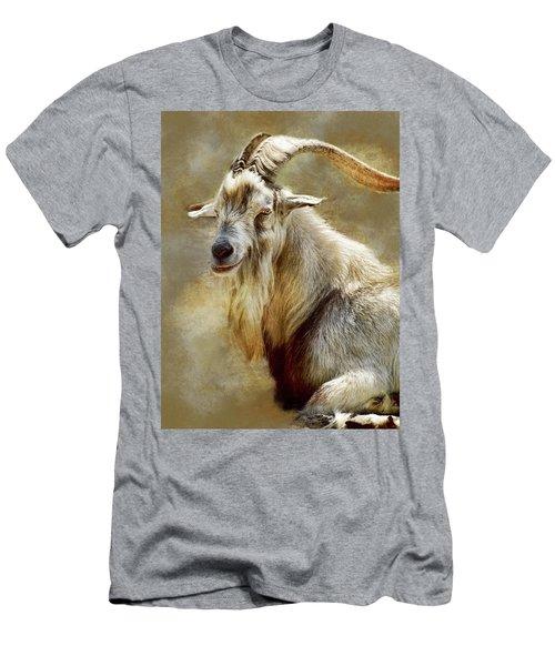 Goat Portrait Men's T-Shirt (Athletic Fit)