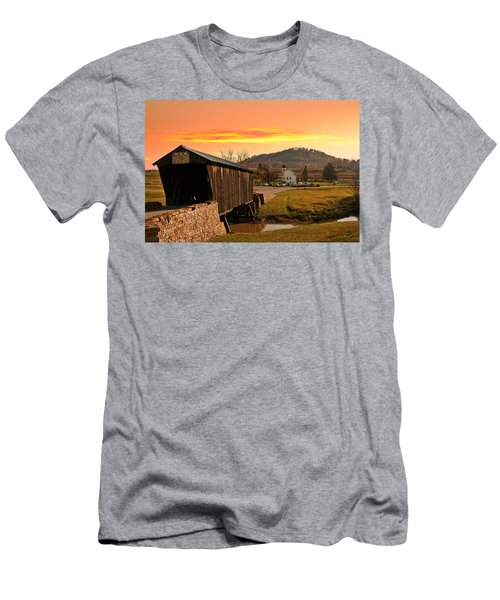 Goddard White Bridge And Church  Men's T-Shirt (Athletic Fit)