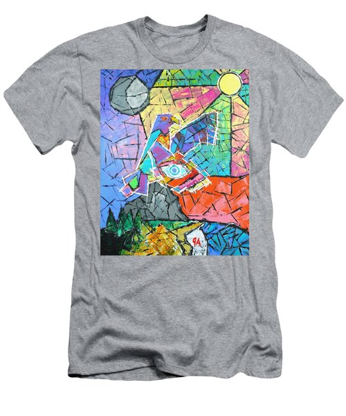 God's Eye, Like Eagle, Roams Earth, Night And Day Men's T-Shirt (Slim Fit) by Jeremy Aiyadurai
