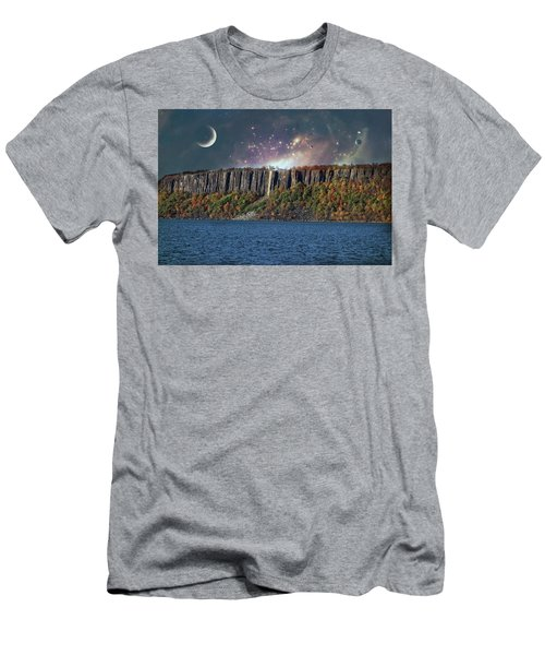 God's Space Over Planet Earth Men's T-Shirt (Athletic Fit)