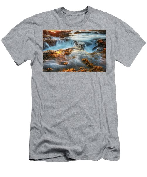 Gold And Blue Men's T-Shirt (Athletic Fit)
