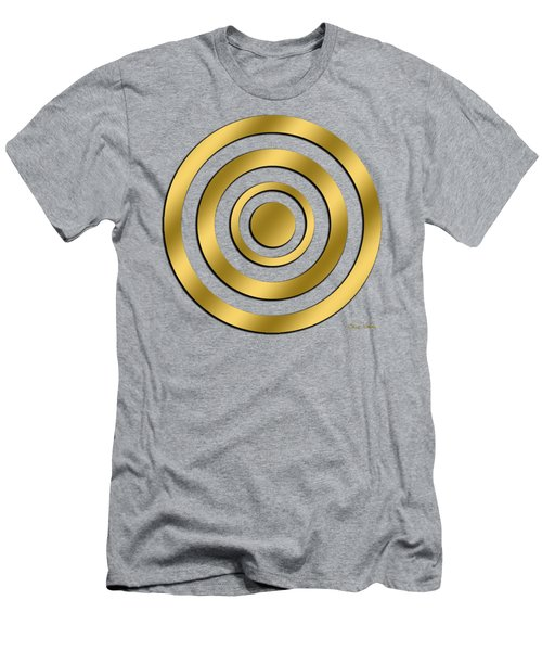 Men's T-Shirt (Slim Fit) featuring the digital art Gold Circles by Chuck Staley