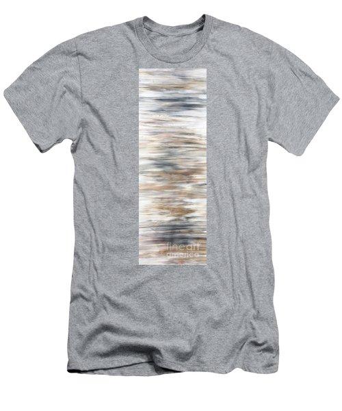 Gold Coast #20 Gold Landscape Original Fine Art Acrylic On Canvas Men's T-Shirt (Athletic Fit)