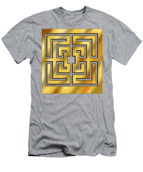 Men's T-Shirt (Slim Fit) featuring the digital art Gold Geo 3 - Chuck Staley by Chuck Staley