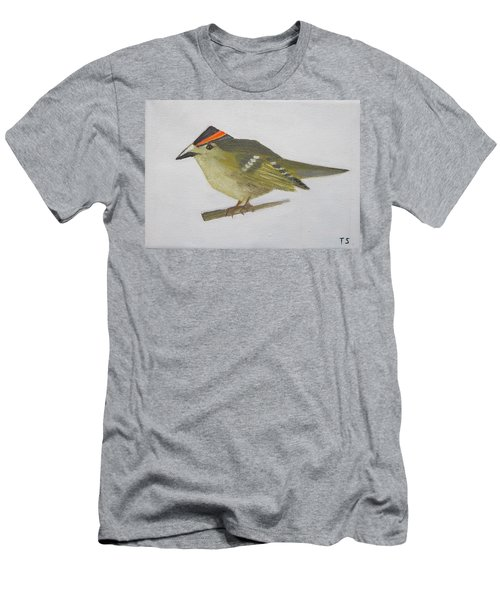 Goldcrest Men's T-Shirt (Slim Fit) by Tamara Savchenko