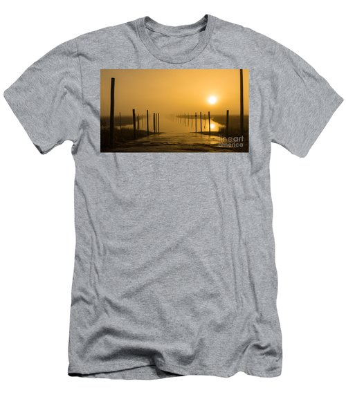 Golden Fog On The Nissequogue Men's T-Shirt (Athletic Fit)