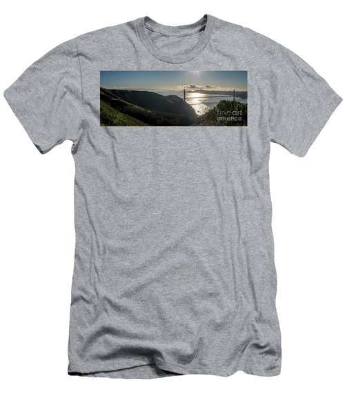 Golden Gate Bridge From The Road Up The Mountain Men's T-Shirt (Athletic Fit)