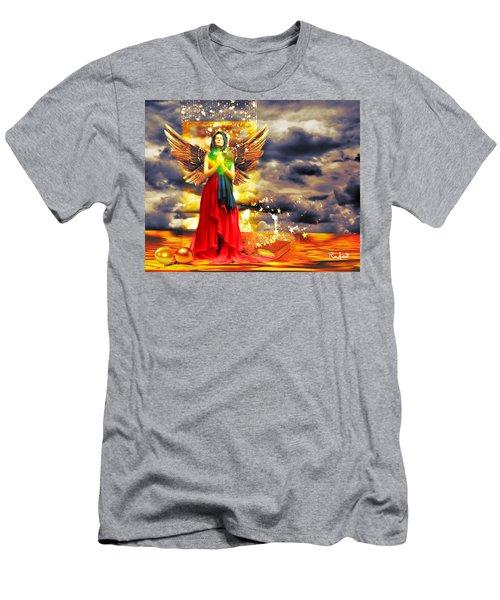 Golden Goddess Of Gratitude Men's T-Shirt (Athletic Fit)