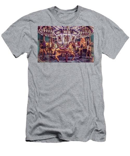 Golden Hobby Horse Men's T-Shirt (Athletic Fit)