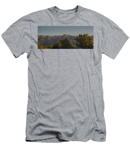 Men's T-Shirt (Slim Fit) featuring the photograph Golden Hour On Thimble Peak by Dan McManus