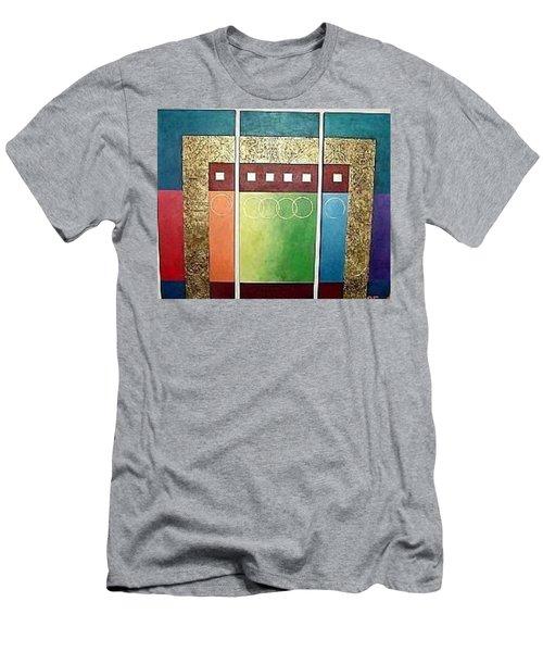 Men's T-Shirt (Slim Fit) featuring the painting Golden Mesa by Bernard Goodman