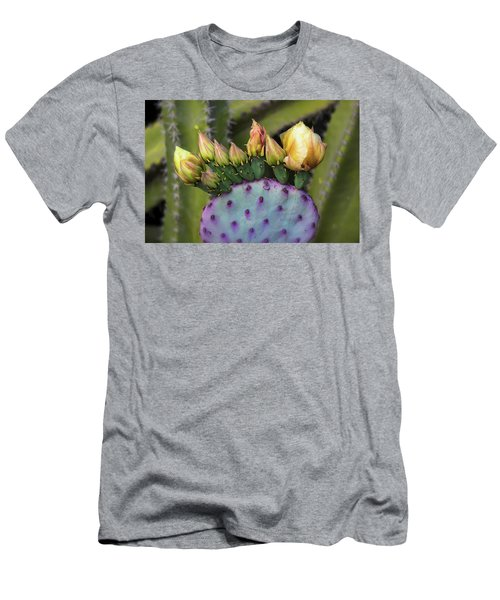 Men's T-Shirt (Athletic Fit) featuring the photograph Golden Prickly Pear Buds  by Saija Lehtonen