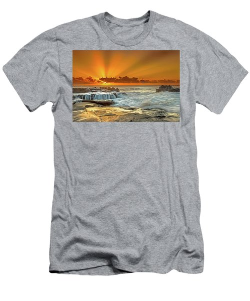 Golden Rays Men's T-Shirt (Slim Fit) by James Roemmling