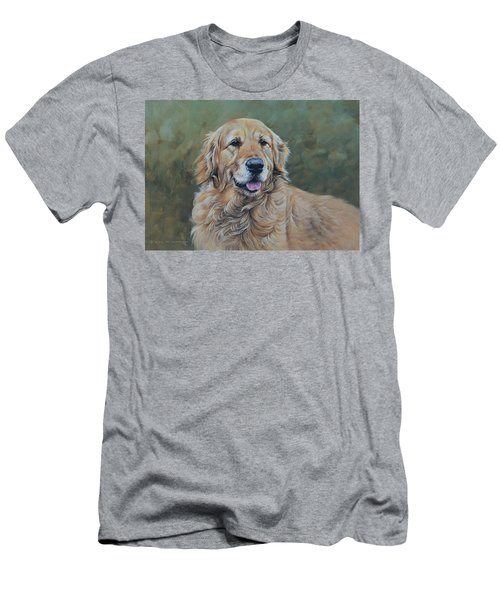 Golden Retriever Portrait Men's T-Shirt (Athletic Fit)