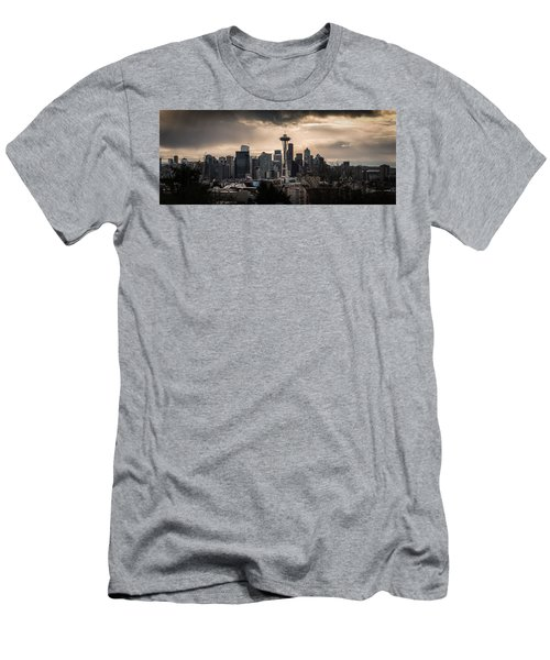 Men's T-Shirt (Slim Fit) featuring the photograph Golden Seattle by Chris McKenna