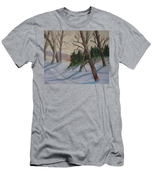 Golden Sky In The Snow Men's T-Shirt (Athletic Fit)