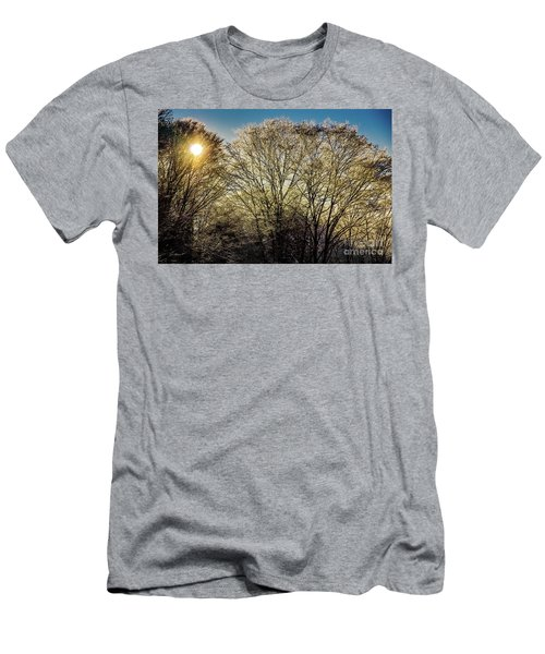 Men's T-Shirt (Slim Fit) featuring the photograph Golden Snow by Tatsuya Atarashi