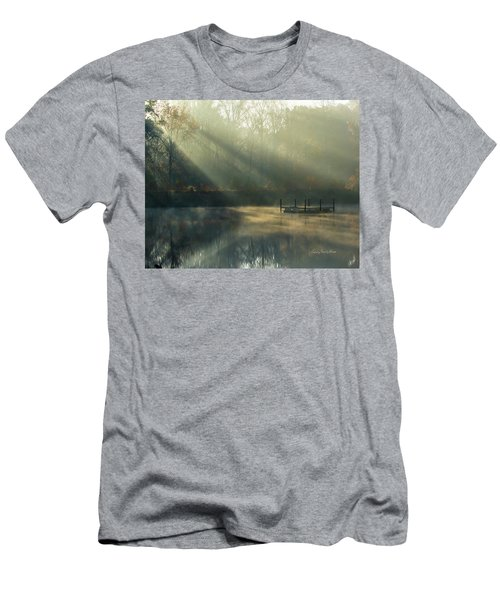 Golden Sun Rays Men's T-Shirt (Slim Fit) by George Randy Bass