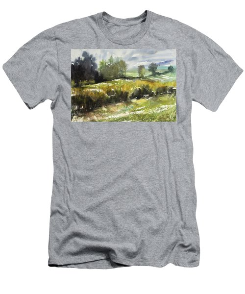Goldenrod On The Lane Men's T-Shirt (Athletic Fit)