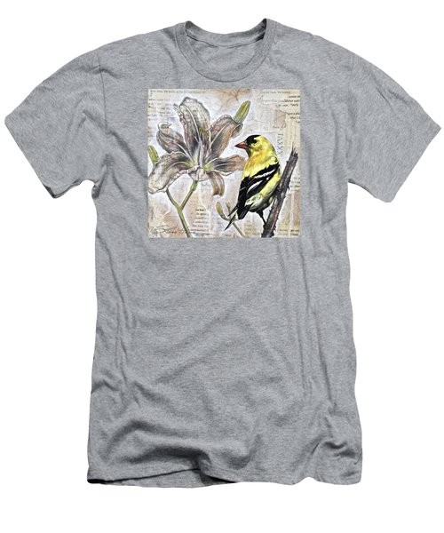 Goldfinch And Lily Men's T-Shirt (Slim Fit) by Sheri Howe