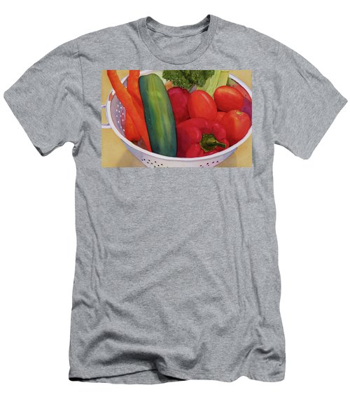 Men's T-Shirt (Slim Fit) featuring the painting Good Eats by Judy Mercer