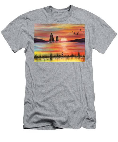 Men's T-Shirt (Athletic Fit) featuring the painting Good Eveving by Denise Tomasura