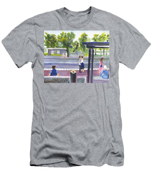 Goodbye Kiss In Gothenburg Sweden Men's T-Shirt (Athletic Fit)