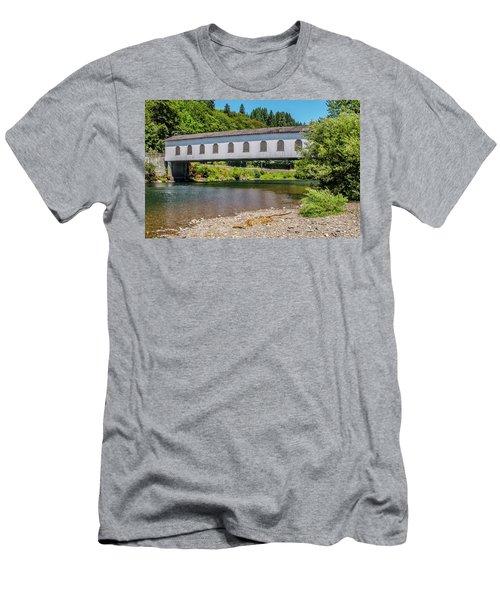 Goodpasture Covered Bridge Men's T-Shirt (Athletic Fit)