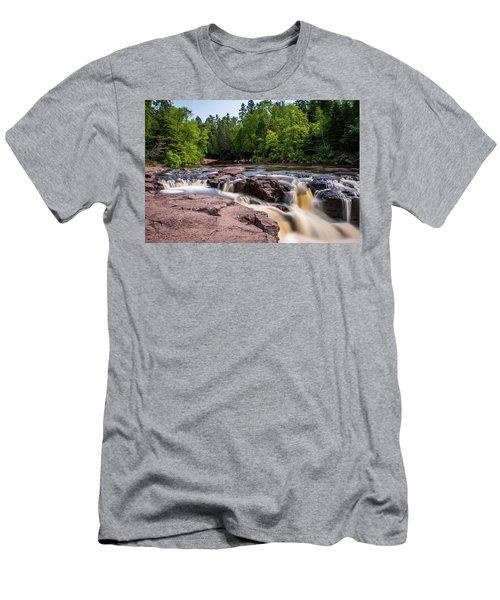 Goose Berry River Rapids Men's T-Shirt (Slim Fit) by Paul Freidlund