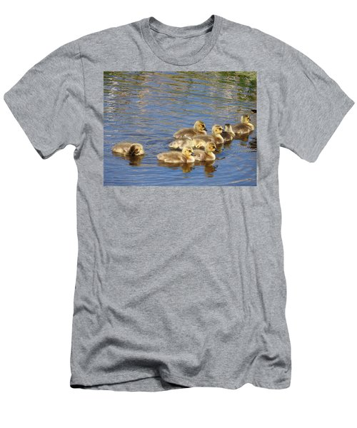 Men's T-Shirt (Slim Fit) featuring the photograph Goslings N0.6336 by Janice Adomeit