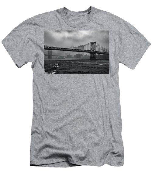 Manhattan Bridge In A Storm Men's T-Shirt (Athletic Fit)