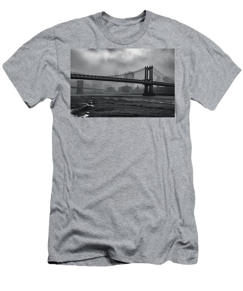 Manhattan Bridge In A Storm Men's T-Shirt (Athletic Fit)