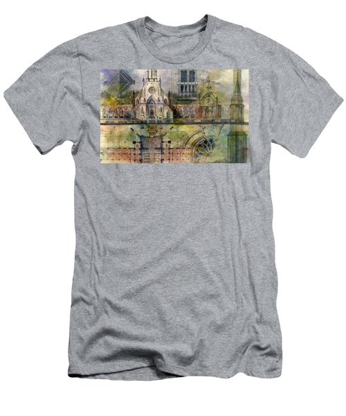 Men's T-Shirt (Athletic Fit) featuring the painting Gothic by Andrew King