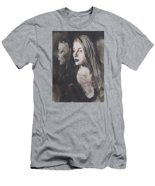 Gothic Mirror Echo Men's T-Shirt (Slim Fit) by Galen Valle