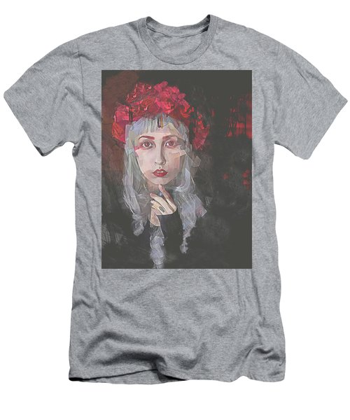 Gothic Petal Men's T-Shirt (Slim Fit) by Galen Valle