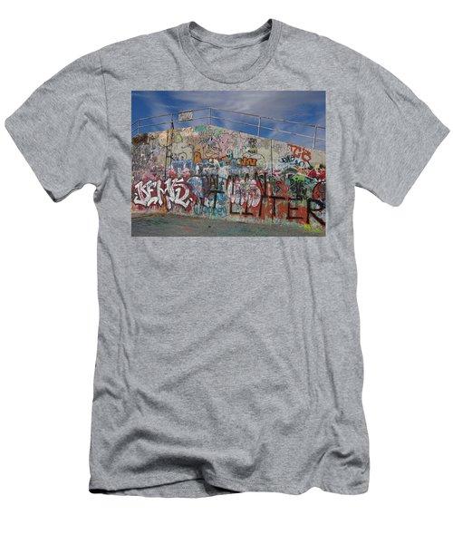 Graffiti Wall Men's T-Shirt (Athletic Fit)