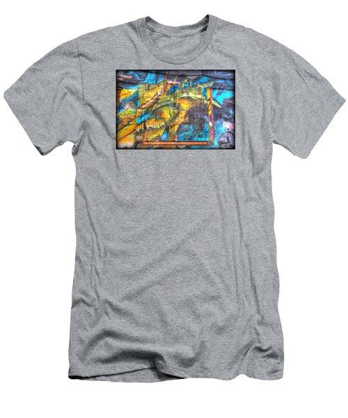 Grafiti Window Men's T-Shirt (Slim Fit) by Michaela Preston