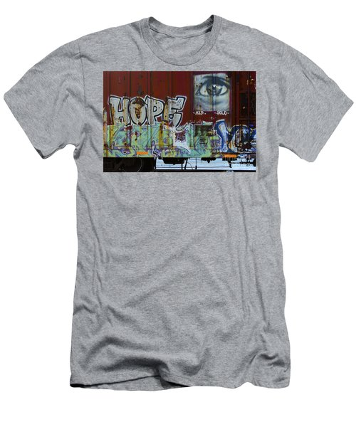 Grafitti Art Riding The Rails 6 Men's T-Shirt (Athletic Fit)