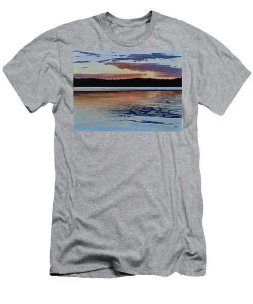 Men's T-Shirt (Slim Fit) featuring the painting Graham Lake by Kenneth M Kirsch
