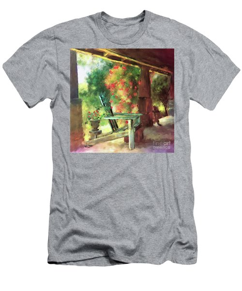 Men's T-Shirt (Slim Fit) featuring the digital art Gramma's Front Porch by Lois Bryan