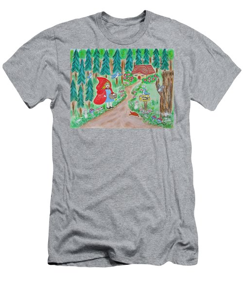 Little Red Riding Hoos With Grammy's House On The Mailbox Men's T-Shirt (Athletic Fit)