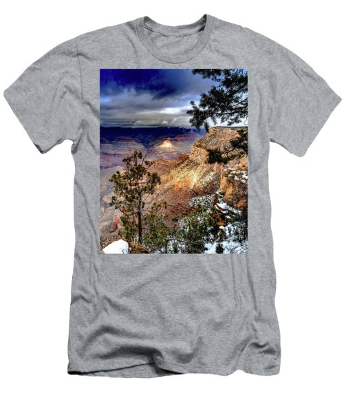 Grand Canyon In Winter Men's T-Shirt (Athletic Fit)