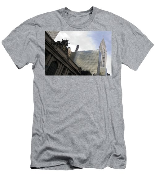 Grand Central And The Chrysler Building Men's T-Shirt (Slim Fit) by Michael Dorn