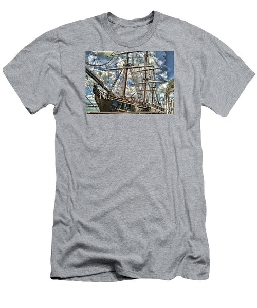 Men's T-Shirt (Slim Fit) featuring the photograph Grand Old Sailing Ship by Roberta Byram