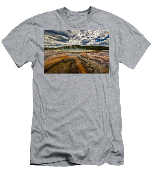 Grand Prismatic Spring Men's T-Shirt (Athletic Fit)