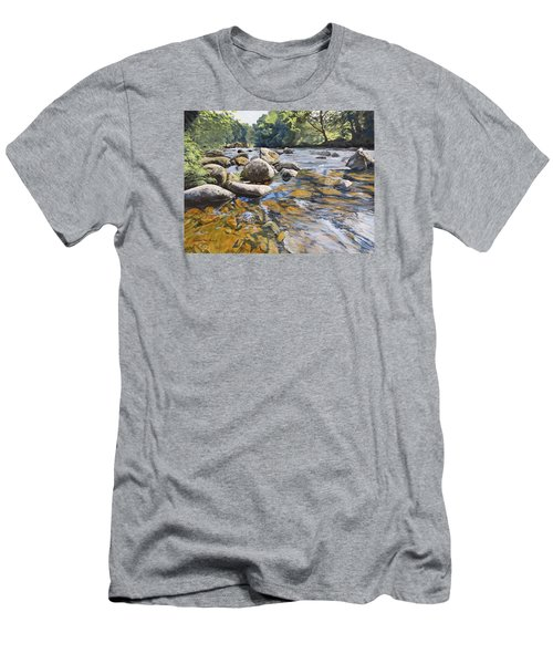 Granite Boulders East Okement River Men's T-Shirt (Athletic Fit)