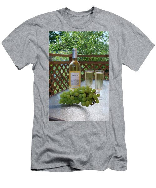 Grapes And Wine Men's T-Shirt (Slim Fit) by Gordon Mooneyhan