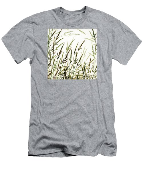 Men's T-Shirt (Slim Fit) featuring the painting Grass Design by James Williamson